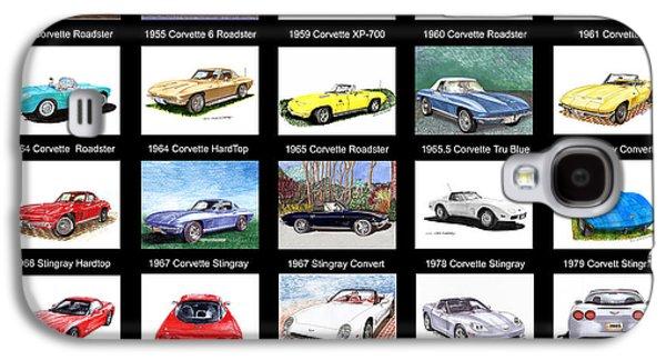 At Poster Mixed Media Galaxy S4 Cases - Twenty Corvettes Galaxy S4 Case by Jack Pumphrey