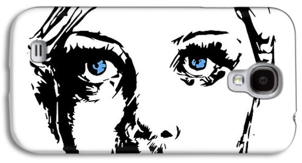 Twiggy Galaxy S4 Cases - Twiggy Galaxy S4 Case by Alexandra-Emily Kokova