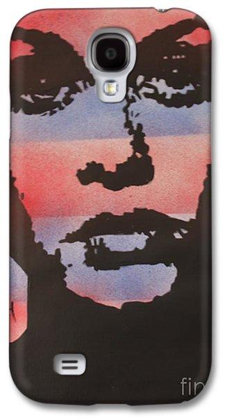 Twiggy Paintings Galaxy S4 Cases - Twiggy Galaxy S4 Case by John Halliday