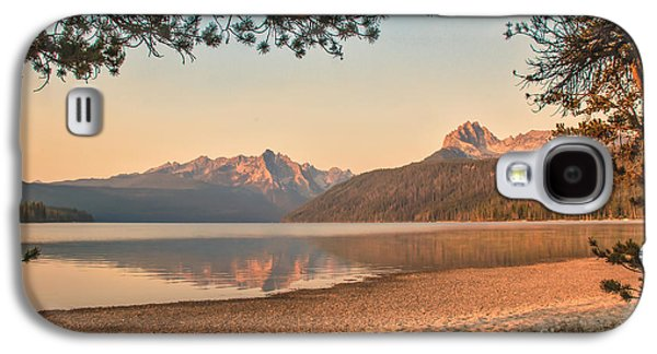 Haybale Photographs Galaxy S4 Cases - Twilight At Redfish Lake  Galaxy S4 Case by Robert Bales
