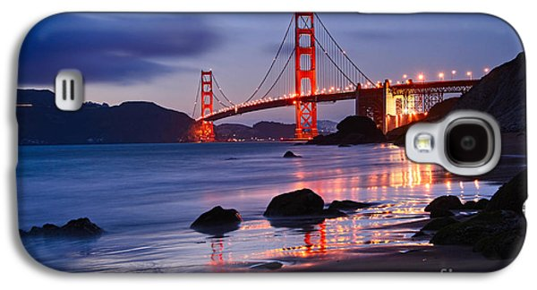 Twilight - Beautiful Sunset View Of The Golden Gate Bridge From Marshalls Beach. Galaxy S4 Case by Jamie Pham