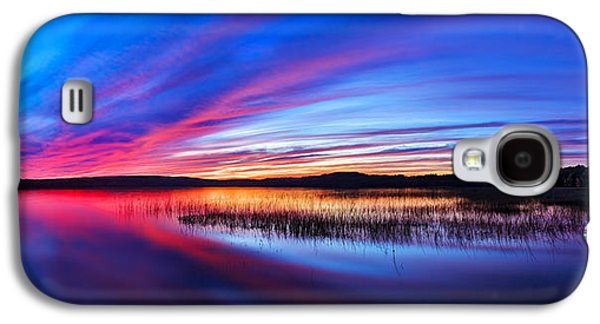 Photographic Art Galaxy S4 Cases - Twilight Burn Panorama Galaxy S4 Case by Bill Caldwell -        ABeautifulSky Photography