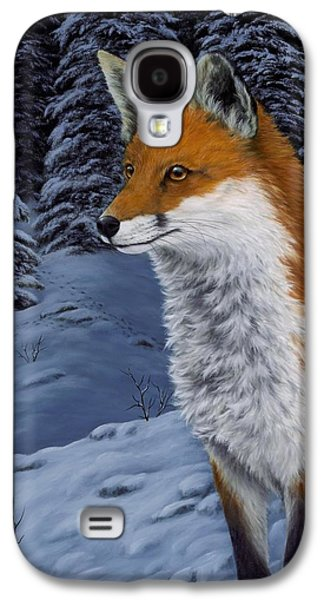 Winter Scene Paintings Galaxy S4 Cases - Twilight Hunter Galaxy S4 Case by Rick Bainbridge