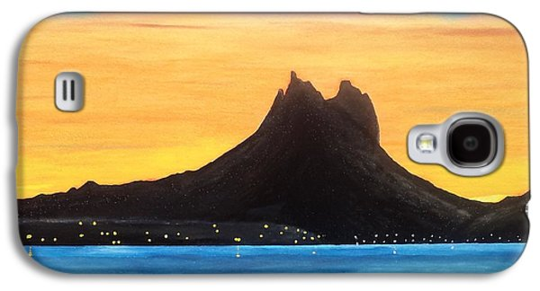Sonora Paintings Galaxy S4 Cases - Twilight on San Carlos Sonora Galaxy S4 Case by Jorge Cristopulos