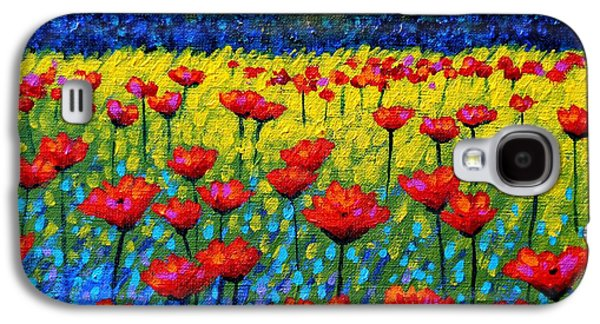 Edition Galaxy S4 Cases - Twilight Poppies Galaxy S4 Case by John  Nolan
