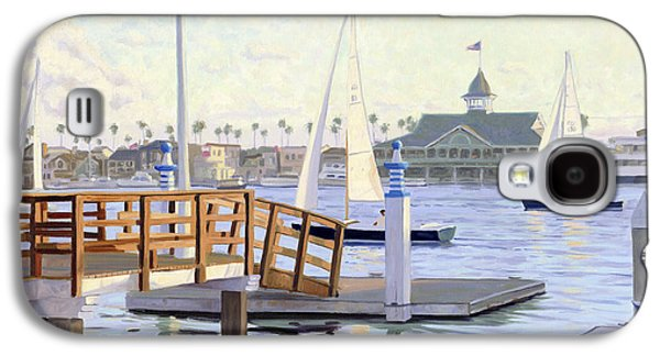 Sailboats In Harbor Galaxy S4 Cases - Twilight Sail Galaxy S4 Case by Steve Simon