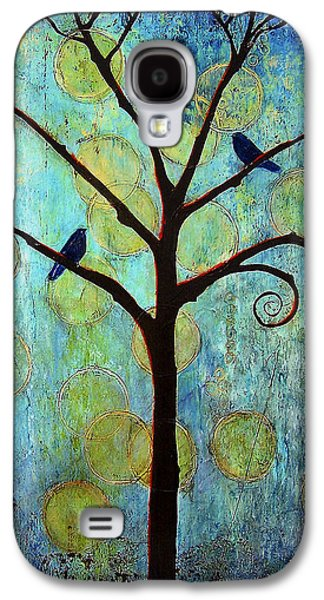 Crows Paintings Galaxy S4 Cases - Twilight Tree of Life Galaxy S4 Case by Blenda Studio