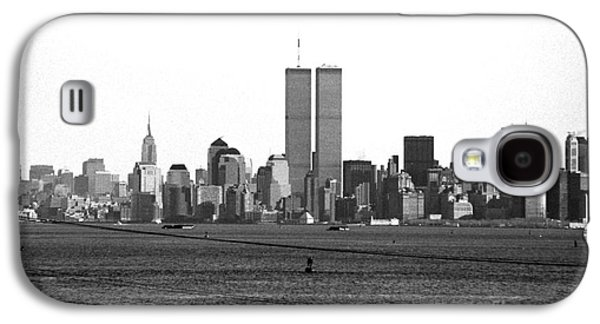 Twin Towers Nyc Galaxy S4 Cases - Twin Towers from Staten Island Galaxy S4 Case by John Rizzuto