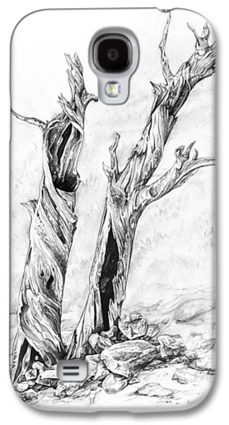 Nature Study Drawings Galaxy S4 Cases - Twisted trees Galaxy S4 Case by Aaron Spong