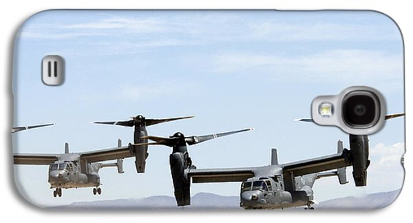 1st Base Galaxy S4 Cases - Two Air Force CV-22 Ospreys Galaxy S4 Case by Russell Scalf - L Brown