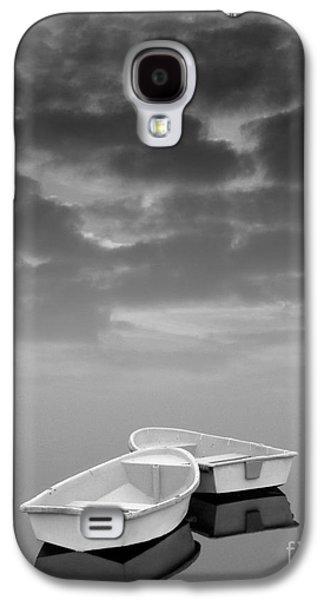 Merging Galaxy S4 Cases - Two Boats and Clouds Galaxy S4 Case by David Gordon