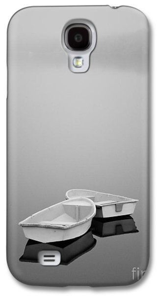 Contemplative Photographs Galaxy S4 Cases - Two Boats and Fog Galaxy S4 Case by David Gordon