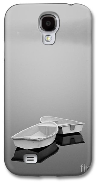 Contemplative Photographs Galaxy S4 Cases - Two Boats and Fog Galaxy S4 Case by Dave Gordon