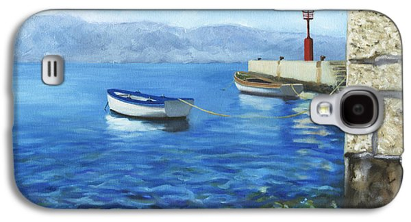 Boats In Water Galaxy S4 Cases - Two Boats Galaxy S4 Case by Joe Maracic