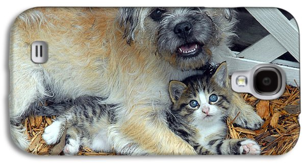 Puppies Digital Galaxy S4 Cases - Two Buddies  Galaxy S4 Case by Jeff McJunkin