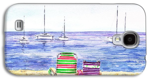 Chair Galaxy S4 Cases - Two Chairs On The Beach Galaxy S4 Case by Irina Sztukowski