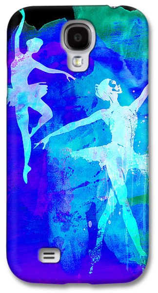 Young Mixed Media Galaxy S4 Cases - Two Dancing Ballerinas  Galaxy S4 Case by Naxart Studio