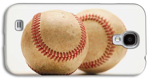 Softball Photographs Galaxy S4 Cases - Two Dirty Baseballs Galaxy S4 Case by Darren Greenwood