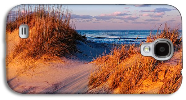 Best Sellers -  - Original Photographs Galaxy S4 Cases - Two Dunes at Sunset - Outer Banks Galaxy S4 Case by Dan Carmichael