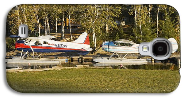 Airplane Photographs Galaxy S4 Cases - Two Float Planes On Moosehead Lake Near Greenville Maine  Galaxy S4 Case by Keith Webber Jr