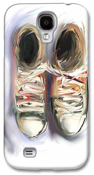 Sneakers Mixed Media Galaxy S4 Cases - Two Friends Galaxy S4 Case by Russell Pierce