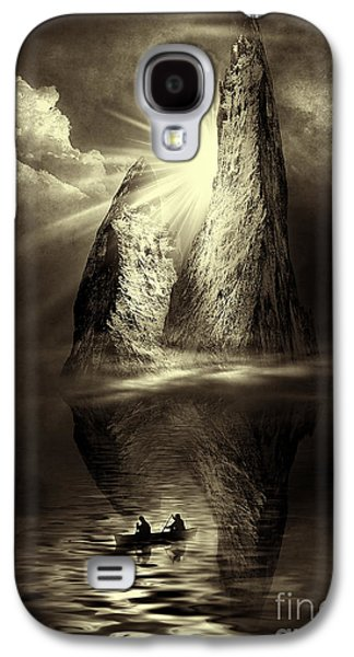 Abstract Digital Mixed Media Galaxy S4 Cases - Two in a Boat Galaxy S4 Case by Svetlana Sewell