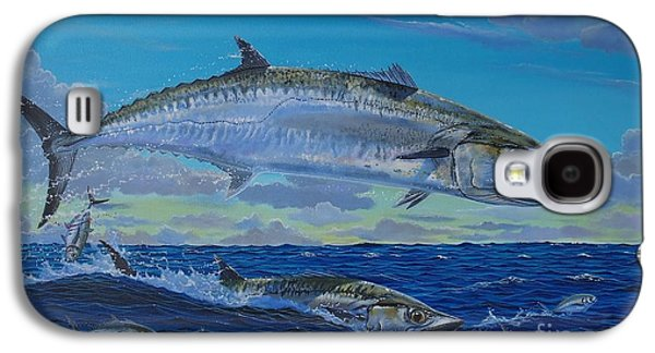 Striped Marlin Galaxy S4 Cases - Two Kings Galaxy S4 Case by Carey Chen