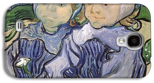 Creepy Paintings Galaxy S4 Cases - Two Little Girls Galaxy S4 Case by Vincent Van Gogh