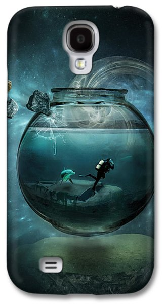 Dark Digital Art Galaxy S4 Cases - Two lost souls Galaxy S4 Case by Erik Brede