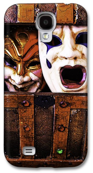 Torn Galaxy S4 Cases - Two Masks In Box Galaxy S4 Case by Garry Gay