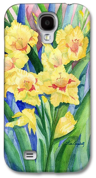 Gladiolas Paintings Galaxy S4 Cases - Two of a Kind Galaxy S4 Case by Willa Campbell
