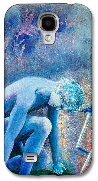 Zodiac Paintings Galaxy S4 Cases - Two of Swords Galaxy S4 Case by Rene Capone