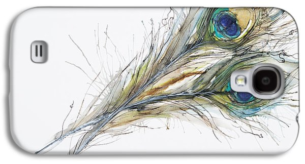 Simplistic Galaxy S4 Cases - Two Peacock Feathers Galaxy S4 Case by Tara Thelen