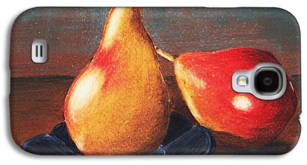Interior Still Life Drawings Galaxy S4 Cases - Two Pears Galaxy S4 Case by Anastasiya Malakhova