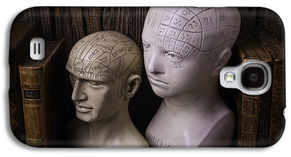 Two Phrenology Heads Galaxy S4 Case by Garry Gay