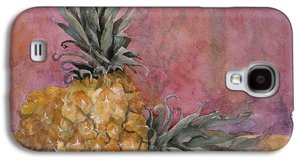 Artistic Paintings Galaxy S4 Cases - Two Pineapples Art Painting Galaxy S4 Case by Blenda Studio