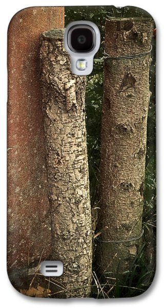 Old Fence Posts Galaxy S4 Cases - Two Poster Galaxy S4 Case by Odd Jeppesen