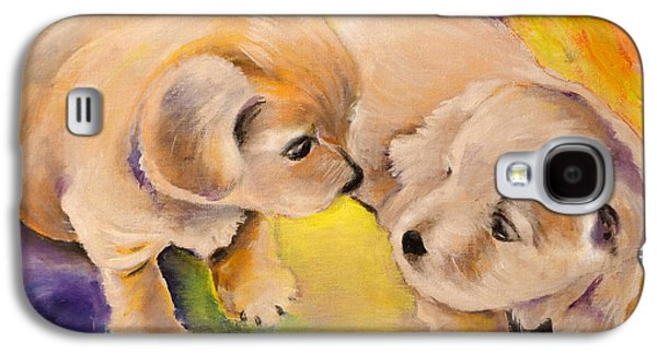 Two Puppies Galaxy S4 Case by Miki De Goodaboom