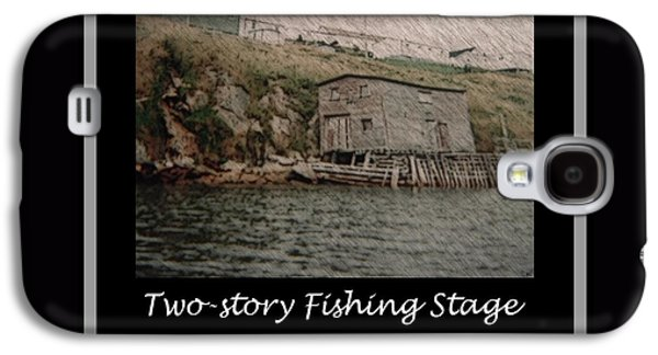 Shed Drawings Galaxy S4 Cases - Two-Story Fishing Stage Galaxy S4 Case by Barbara Griffin