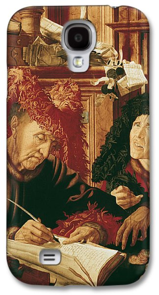 Coins Photographs Galaxy S4 Cases - Two Tax Gatherers, C.1540 Oil On Panel Galaxy S4 Case by Marinus van Reymerswaele