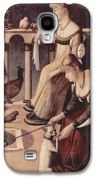 Prostitutes Paintings Galaxy S4 Cases - Two Venetian Ladies Galaxy S4 Case by Vittore Carpaccio