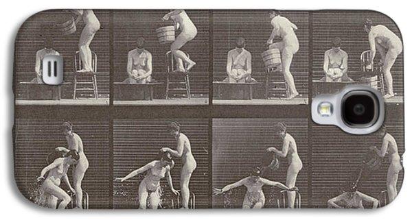 Two Women Bathing Galaxy S4 Case by Eadweard Muybridge