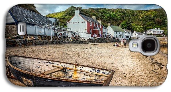 Coastline Digital Art Galaxy S4 Cases - Ty Coch Inn Galaxy S4 Case by Adrian Evans