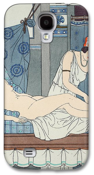 Lesbian Galaxy S4 Cases - Tying the Legs Together Galaxy S4 Case by Joseph Kuhn-Regnier