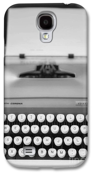 Typewriter Keys Photographs Galaxy S4 Cases - Type It Galaxy S4 Case by Rebecca Cozart