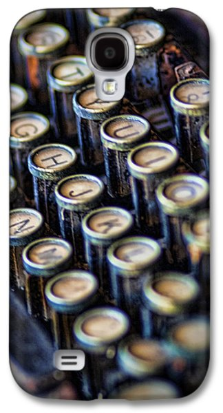 Typewriter Keys Photographs Galaxy S4 Cases - Typewriter Keys Galaxy S4 Case by David and Carol Kelly