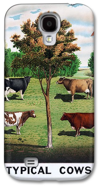 Cow Digital Galaxy S4 Cases - Typical Cows  Galaxy S4 Case by Nomad Art And  Design