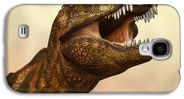 Extinct And Mythical Digital Art Galaxy S4 Cases - Tyrannosaurus Rex 3 Galaxy S4 Case by Bob Orsillo
