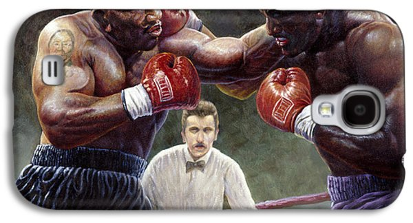 Heavyweight Galaxy S4 Cases - Tyson/Holyfield Galaxy S4 Case by Gregory Perillo