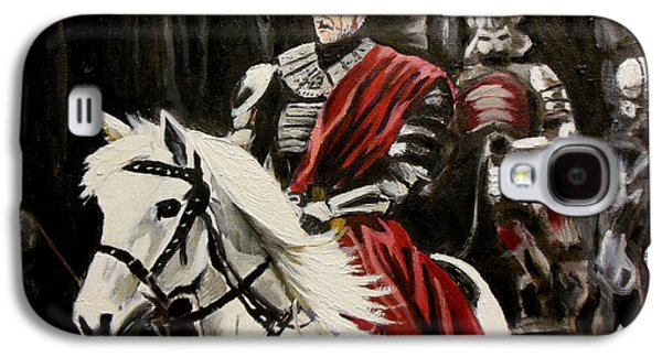 Knights Castle Paintings Galaxy S4 Cases - Riding to War Galaxy S4 Case by Demian Legg